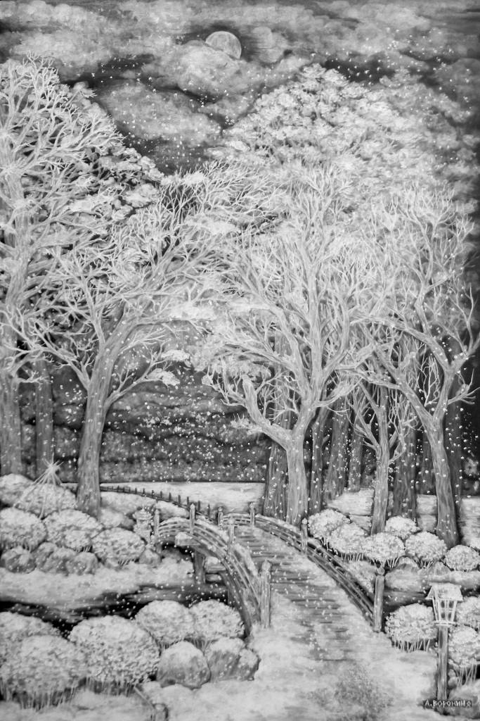 Первый снег. Цикл - Полнолуние. Япония