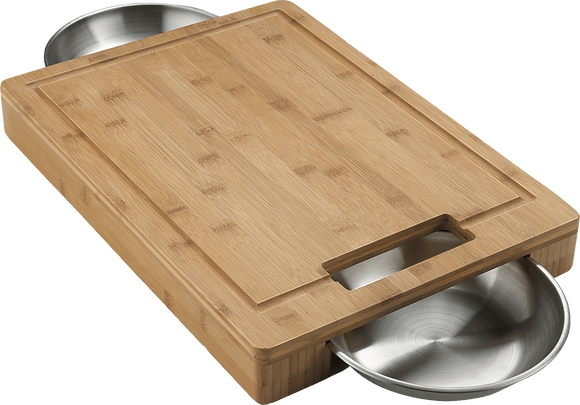 Napoleon Pro Cutting Board w/ Stainless Steel Bowls