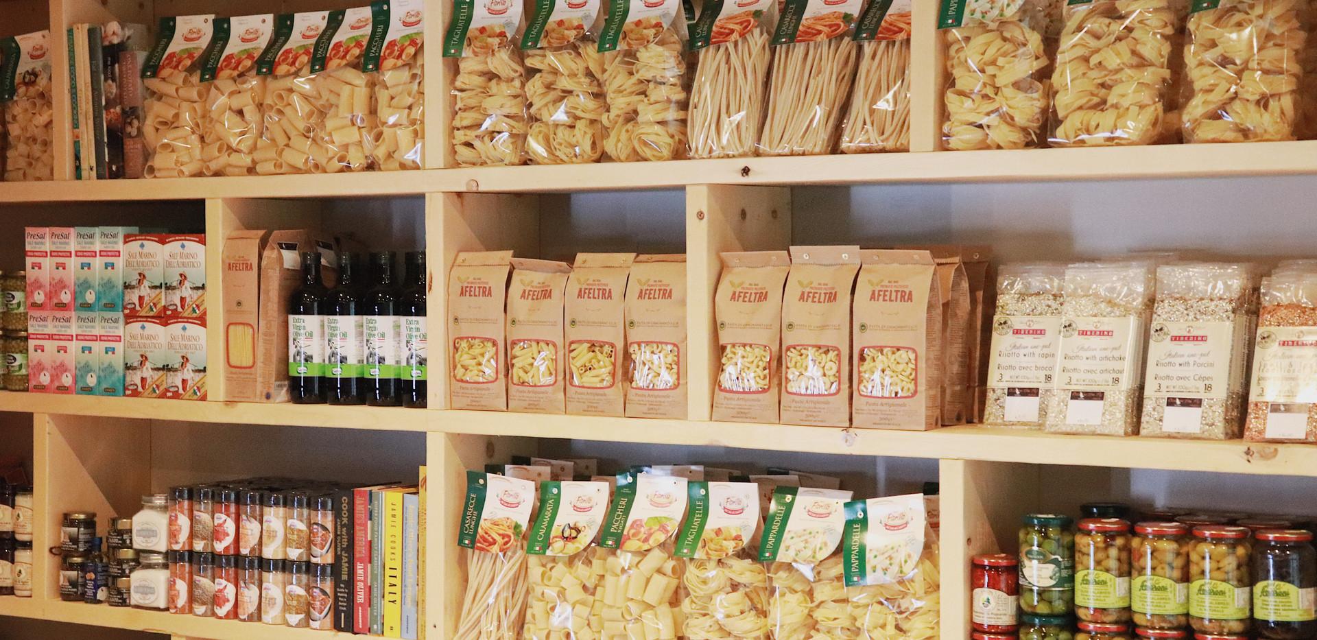 whole wheat, spelt, gluten free pastas