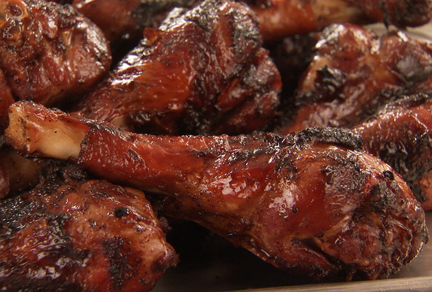 BBQ Turkey Drumsticks with Chipotle Glaze