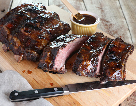 NEW* BBQ Beef Ribs with Spicy Pineapple Rum Glaze