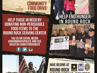 2016 Hike For Hunger with Round Rock PD and Round Rock Army Recruiting Office