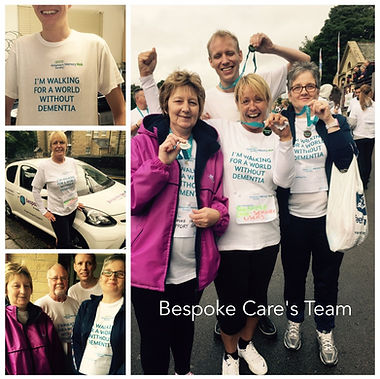 Image of the Bespoke Care Team after a walk