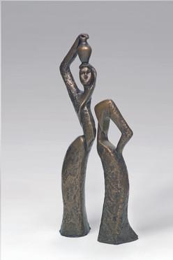 2007-woman-with-jar-58.25.11 cm-Bronze