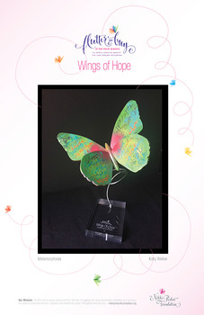 Custom Painted Butterfly, From Wings of Hope benefit for Nikki Perlow Foundation