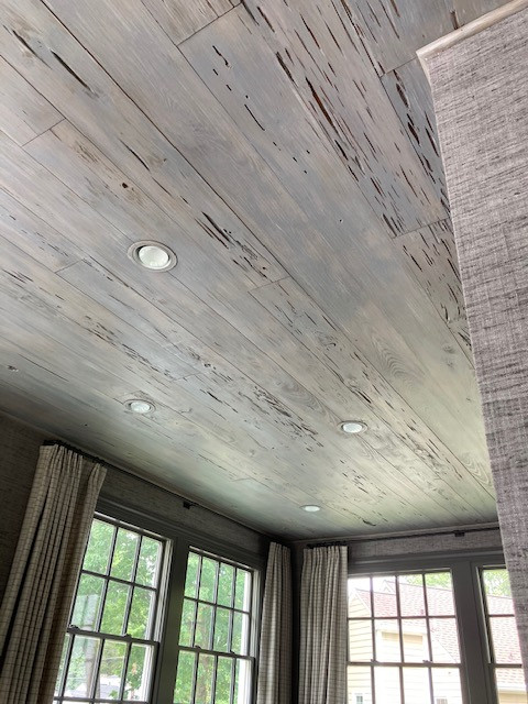 Faux finish ceiling