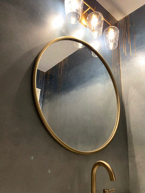 Ombré Walls with Gold Drip