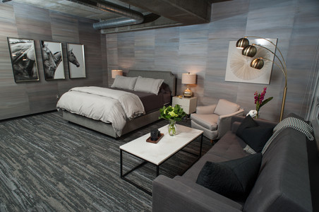 Painted Faux Silk Wallcovering