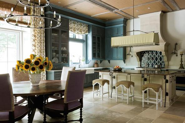 Limestone Walls & Faux Bios Ceiling Beams