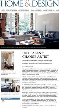 Home & Design Magazine - Designer: Elizabeth Reich