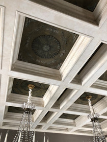Faux Limestome Ceiling Beams