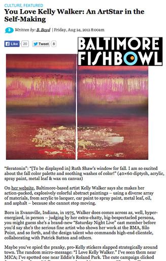 Baltimore Fishbowl - You Love Kelly Walker: An ArtStar in the Self-Making