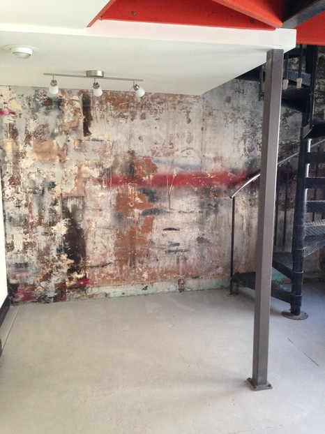 Distressed Plaster Accent Wall
