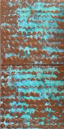 Copper Patina Fish Scale