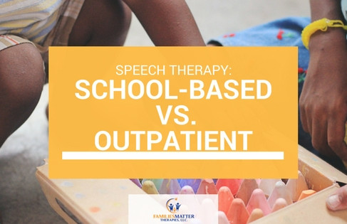 Speech Therapy: School-based vs. Outpatient