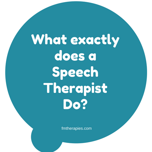 What exactly does a Speech Therapist Do?
