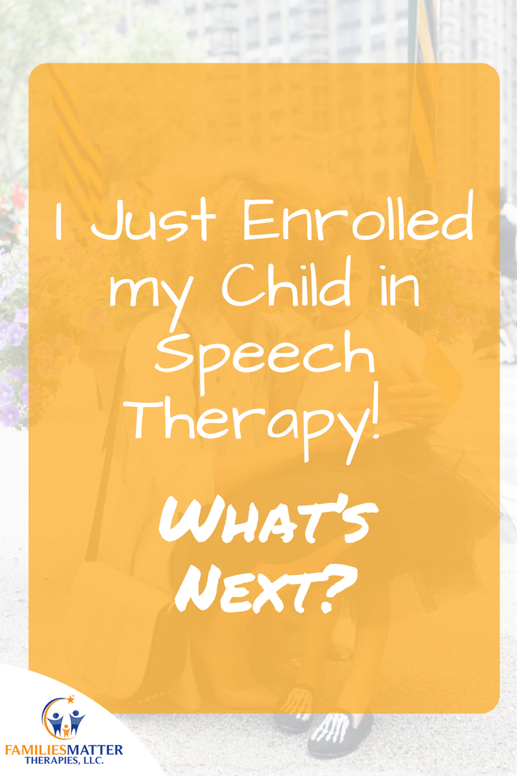 Pediatric speech therapy in Dekalb and Gwinnett County. Families Matter Therapies