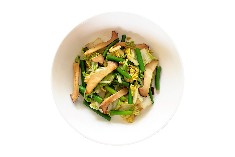 Wongbok and Garlic Shoots