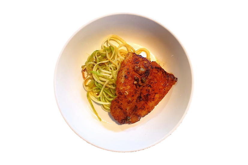 Viet-Cajun Fish with Zoodles