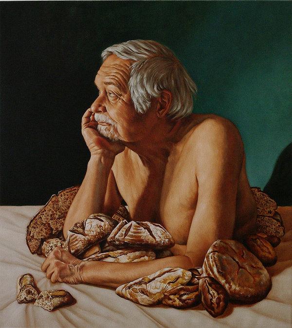 portrait vieil homme peinture à l'huile