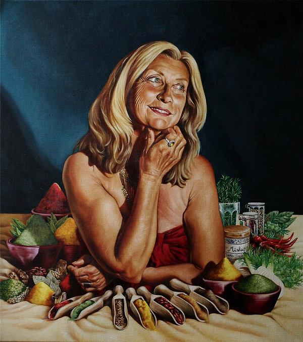 Caroline portrait dame peinture à l'huile