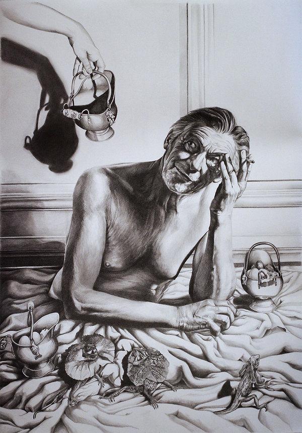 Dessin portrait homme graphite