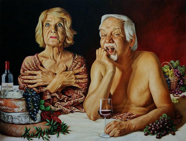 portrait de famille peinture à l'huile
