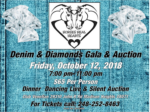 Denim & Diamonds Gala and Auction Single Ticket