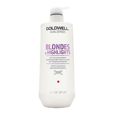 SHAMPOOING ANTI-REFLETS JAUNES GOLDWELL BLONDES & HIGHLIGHTS 1 Litre