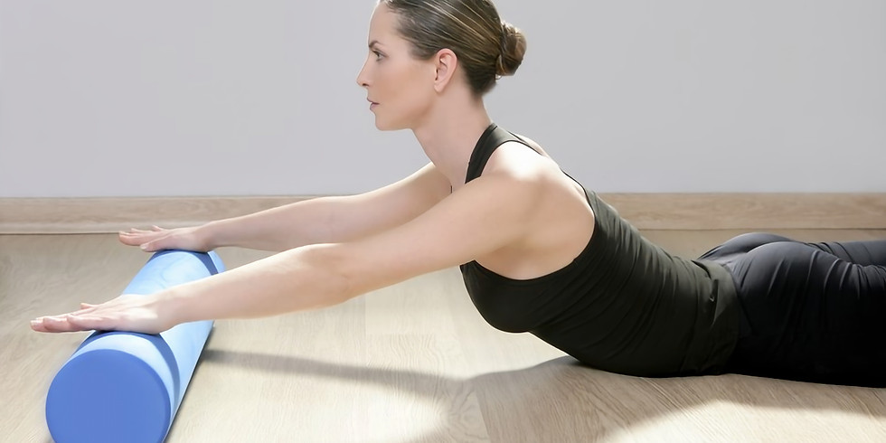 Pilates and Props - 45-minute Pilates Flow via Zoom using a foam roller, weights, and or resistance band