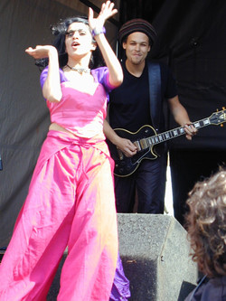 Performing with Joi - Southbank festtival