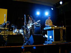 Performing with Kinobe alongside Lamb