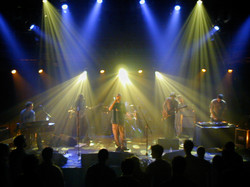 Performing with Kinobe - UK tour
