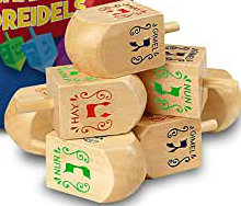Dreidels, medium, wood