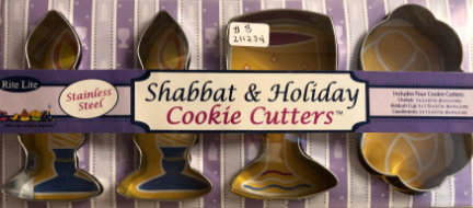 Shabbat & Holiday Cookie Cutters