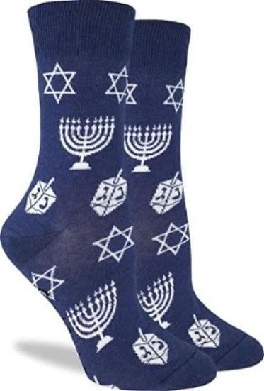 Women's Socks with dreidels