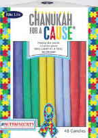Chanukah Candles for a Cause - Autism.