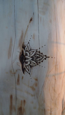 Sacred geometry on bush posts
