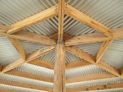 Finished underside of roof