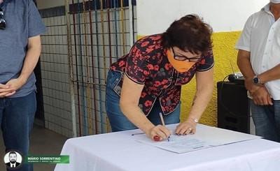 Prefeita Márcia Lucena assina ordem de serviço para a construção de nova UBS Quilombola em Gurugi