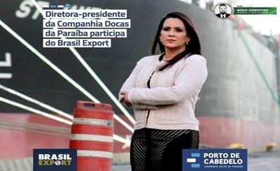 Gilmara Temóteo vai à Brasília receber o prêmio Portos + Brasil 2020 para o Porto de Cabedelo