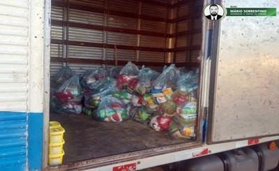 Polícia Militar apreende 100 cestas básicas que seriam distribuídas no município de Mari