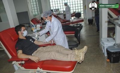 Policiais penais da Paraíba participam de mais uma campanha de doação de sangue