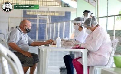 Prefeitura de Alhandra realiza testagem para Covid-19 em moradores sintomáticos e confirma 25 casos