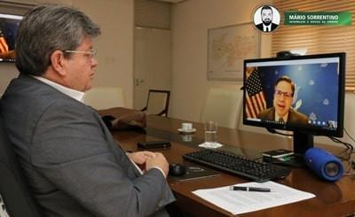 João Azevêdo se reúne com embaixador dos Estados Unidos e apresenta potencialidades e oportunidad...