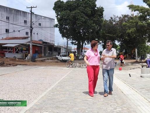 Prefeita Márcia Lucena visita obras em andamento no município de Conde