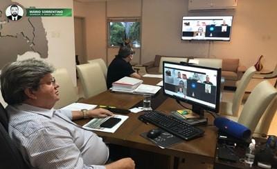 João Azevêdo discute logística de vacinação para o mês de março com prefeitos da Grande João Pessoa