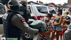 Polícia Militar entrega quase 26 toneladas de alimentos da campanha 'Boas Festas Solidárias'