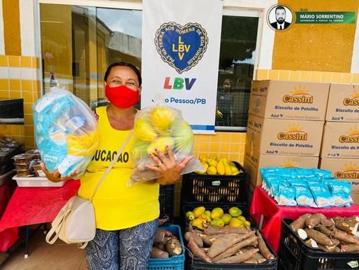 LBV faz mobilização social para ajudar famílias no enfrentamento a fome na Paraíba