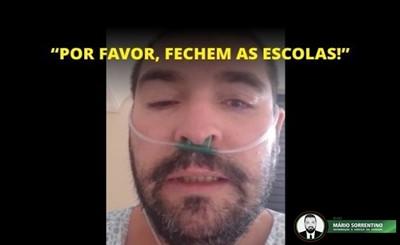 """Vídeo: Funcionário de escola no Paraná infectado com Covid-19 faz apelo: """"fechem as escolas"""""""